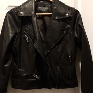 BLANKNYC Faux Leather Moto Jacket Size S